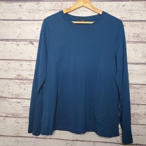 New COS Top Size Large Blue Womens Shirt